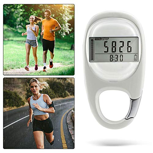 3D Simple Pedometer With Clip, 3d Digital Walking Step Counter For Men Women Kids, Accurately Track Steps And Miles/Km Calories Burned & Activity Time 7 Days Memory