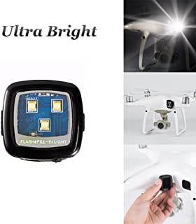FUNTEN Cree Drone Strobe Light Drone Night Flights for DJI Spark Phantom 3 4 Inspire 1 2 Mavic Air Pro 2 Zoom YuneecTyphoon H Matrice Accessories - White