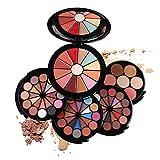 PhantomSky 72 Colores Cosmético Kit Maquillaje Set de Regalo Profesional Paleta de Sombra de Ojos con Brillo de Labios, Blush, Corrector y Polvo Compacto - Perfecto para el uso profesional y diario