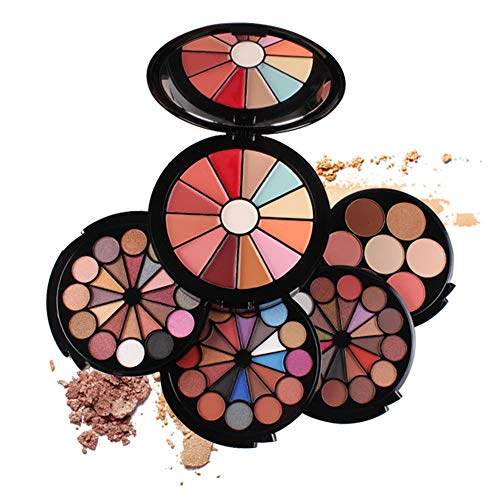 PhantomSky 72 Farben Lidschatten Palette Make-up-Geschenkset Kosmetikset Kombination mit Lipgloss,...
