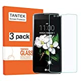TANTEK HD-Clear Tempered Glass Screen Protector for LG K7 / LG Tribute 5, 3 Pack