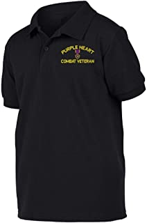 Purple Heart Combat Veteran Polo Shirt