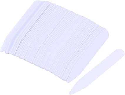 SUPVOX 200 Piezas Ballenas para Cuello Camisa Hombre Blanco ...