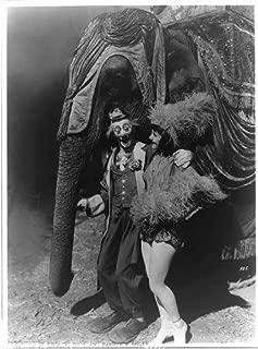 HistoricalFindings Photo: Ringling Brothers-Barnum,Bailey Circus,pals,big show,clown,elephant,dancer,c1935