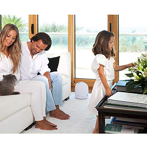 Airfree P80 Filterless Air Purifier with Night Light - White Finish