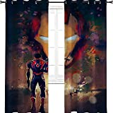 aotuma Iron Man Comics Vengadores cómics, elegante hogar, multicolor, cortina para ventana para...