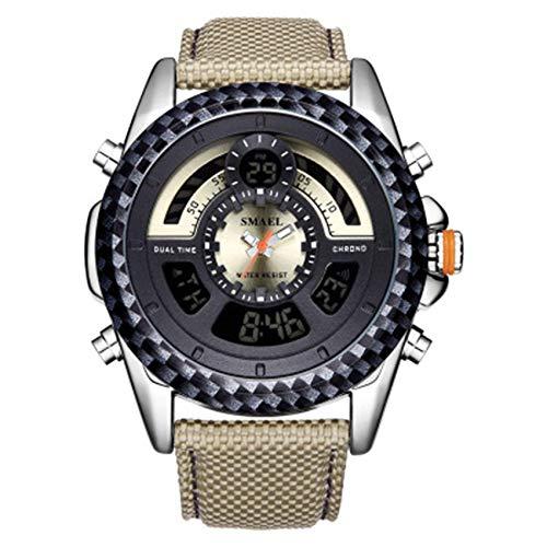 Reloj de los hombres del movimiento del cuarzo del dial grande del reloj del cuero de la correa del reloj impermeable y resistente a los arañazos mejor regalo de los hombres de jianyou ( Color : E )