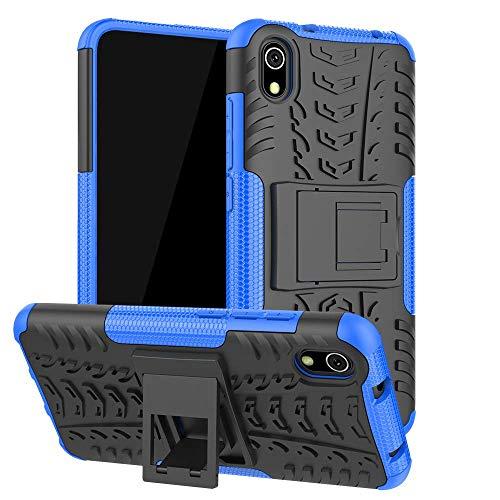 Capa Capinha Anti Impacto Para Xiaomi Redmi 7a Tela 5.45Case Armadura Hybrid Reforçada Com Desenho De Pneu - Danet (Azul)