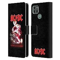 Head Case Designs オフィシャル ライセンス商品 AC/DC ACDC ホール・ロッタ・ロージー ソング・タイトル Motorola Moto G9 Power 専用レザーブックウォレット カバーケース