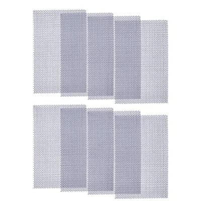 LOOBANI Stainless Steel Woven Wire Mesh, Metal Cover Panel Mesh Sheet Hardware Fill Fabric Screen Suitable for Drain Cover/Hole/Vents in House/Basement/Garden (8 Pack)