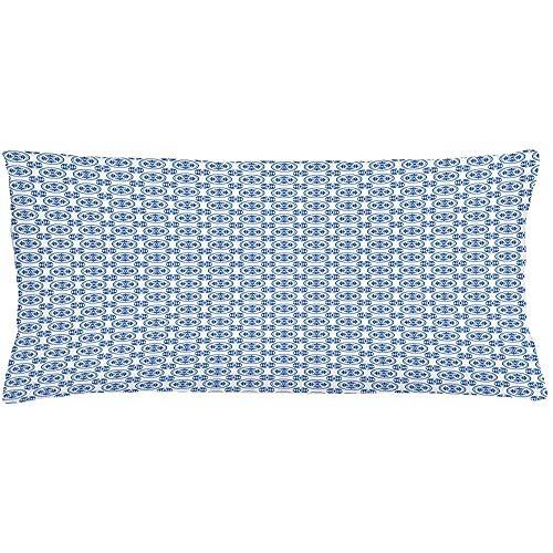 Ducan Lincoln Pillow Case 4 Stück 18X18 Zoll Moderne Dekokissen Kissenbezug,Blumendamast In Monochrom-Tönen Muster Auf Einfachen Hintergrund,Home Decor Rechteck Akzent Kissenbezug