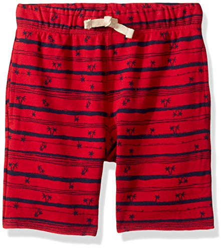 The Children's Place Boys' Big Graphic Drawstring Shorts, Ruby, S (5/6)