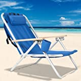 Beach Chair-Backpack Beach Chair Folding Portable Chair Blue Solid Construction Camping-Patio Chairs--Color Blue-Patio Furniture Sets-For camping, pool days, patio furniture and so much more-Guaranteed!