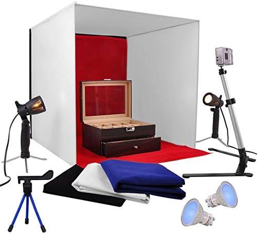 2021new shipping free 24-inch Photo Cube Studio half Light Tent Backgrounds Box 4 Ca Kit w