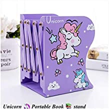 shreenath craft (Pack of 1) Book Holder Stand Metal Bookends Adjustable Non-Skid Heavy Duty Book Rack Stand Hold Books, Magazines, Cookbooks (Multi Color and Design) (1)