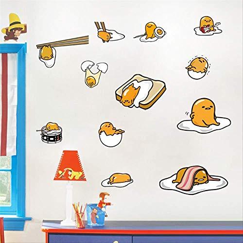 Wall Sticker Cute Cartoon Egg Yolk Brother Yolk Waterproof Travel Suitcase Bedroom Nursery PVC Waterproof Wall Sticker Mural