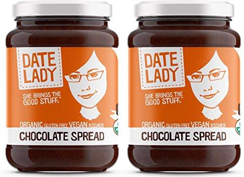 Organic Chocolate Date Spread | Vegan, Paleo, Gluten-free & Kosher, NO ADDED SUGAR, NO PRESERVATIVES (2 Jars)