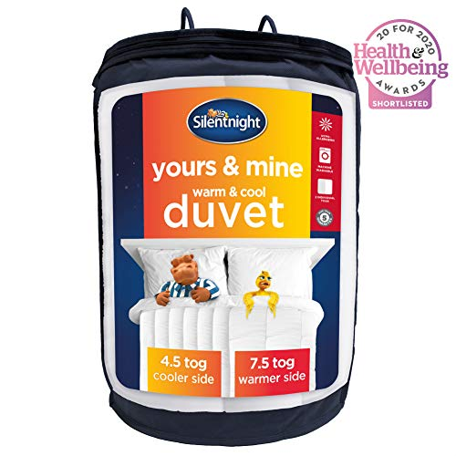 Silentnight Yours and Mine Duvet, Double, Dual Tog Quilt, 4.5 Tog Cool on One Side, 7.5 Tog Warmer on the Other