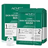 5-Pack Sheet Face Neck Mask,Moisturizing <span class='highlight'>Rejuvenating</span> Mask,Collagen Full Essence Hydrating Facial <span class='highlight'>Masks</span> with Q10,Hyaluronic Acid,Vitamin C,Brightening,Firm Skin, Anti-Aging,Anti-Wrinkle,Curelty-free