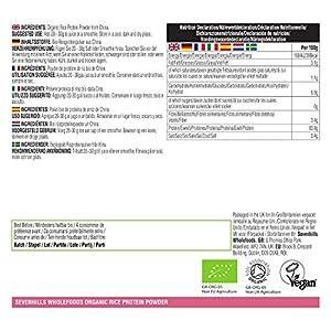 Sevenhills Wholefoods Organic Rice Protein Powder 1kg