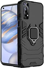 TheGiftKart Armor Bumper Back Case Cover for Realme Narzo 20 Pro/Realme 7 Tough | Ring Holder & Kickstand in-Built | Excellent 360 Degree Protection (Carbon Black)