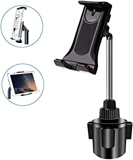 Cup Holder Tablet Mount, NeotrixQI 2-in-1 Tablet and Smartphone Adjustable Swing Cradle with Extended Cup Car Mount Holder...
