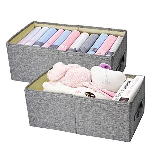 2 cajas de almacenamiento plegables/cestas de almacenamiento de tela sin tapa en forma de cubo, caja de almacenamiento para casa, baño, habitación de los niños, perchero, oficina
