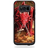 MightySkins Skin Compatible with LifeProof Fre case for Samsung Galaxy S8+ Plus - Angry Dragon | Protective, Durable, and Unique Vinyl wrap Cover | Easy to Apply, Remove | Made in The USA