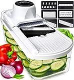 Mandoline Slicer Vegetable Slicer and Vegetable Grater - Potato Slicer Food Slicer Veggie Slicers...