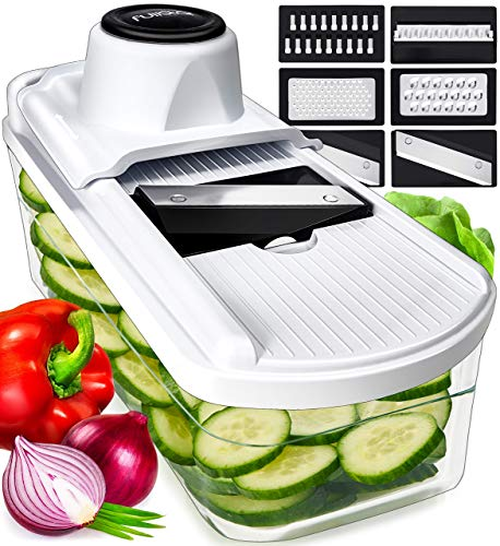 Mandoline Slicer Vegetable Slicer and Vegetable Grater  Potato Slicer Food Slicer Veggie Slicers Mandoline Slicer Cutter Grater  Veggie Slicer Onion Slicer Fruit Slicers for Fruits and Vegetables