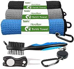 ToVii Golf Towel Microfiber Waffle