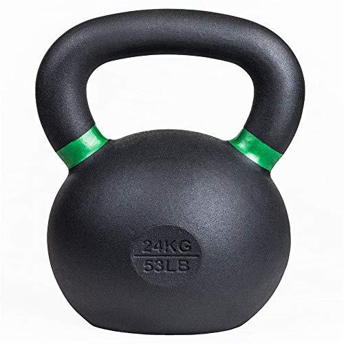 WXH Fitness Kettlebells, Marcas de LB y Kg. Powder Coat, Durability Rust Resistance Longevity, para competición, Fuerza, Fitness, Entrenamiento Cruzado,L