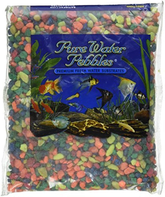 Pure Water Pebbles Aquarium Gravel, 2Pound, Neon Rainbow by Pure Water Pebbles