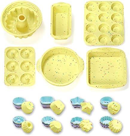 46PCS Silicone Bakeware Set Silicone Cake Molds Set For Baking Including Baking Pan Cake Mold product image