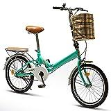 20 Pouces Vélo Pliant, Bicyclette Pliable Vélo d'équitation en Alliage d'aluminium, Vélo Pliant Ultra-léger pour Hommes et Femmes Adultes, Frein à Disque Double Unique Vélo