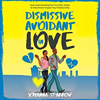 Dismissive Avoidant in Love     How Understanding the Four Main Styles of Attachment Can Impact Your Relationship              By:                                                                                                                                 Johanna Sparrow                               Narrated by:                                                                                                                                 Erica Hazelton                      Length: 1 hr and 5 mins     4 ratings     Overall 3.3