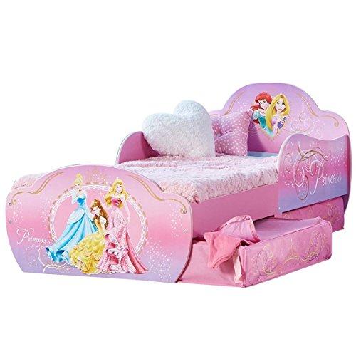 Bebegavroche Lit Enfant Princesse Disney Design avec tiroirs de Rangement + Matelas