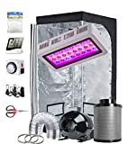 TopoGrow Grow Tent Kit Complete LED 300W Grow Light, 32'X32'X63' Grow Tent and...