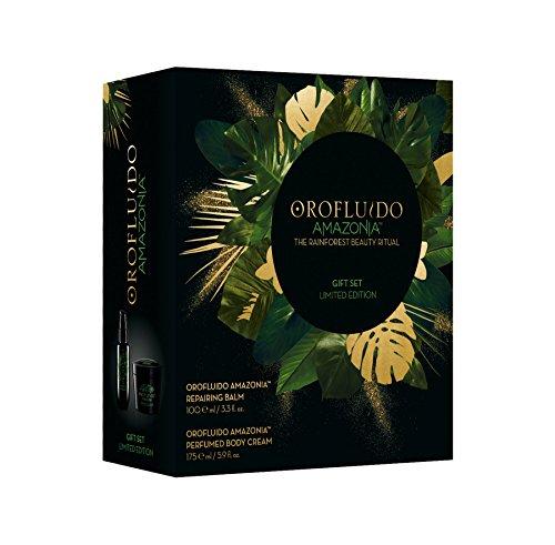 orof luido Limited Edition Set de regalo, Amazonia Repairing Balm haarbalm con queratina + perfumed Body Cream Crema Corporal (100ml + 175ml), 275ml
