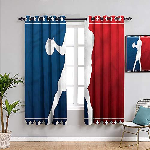Xlcsomf Cortina deportiva para casa de campo, cortinas de 114 cm de largo, silueta de jugador de baloncesto, cortina de café, 163 cm de ancho x 45 cm de largo