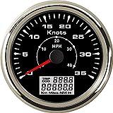 U/D GPS Velocidad, aceleración 0-35knots 85 mm Velocidad odómetros 0-40MPH Pantalla LCD Trip/ODO DQO for Recipiente del Barco (Color : BS, Size : Gratis)