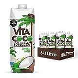 Vita Coco - Agua De Coco Prensada (1L x 6) - Hidratante Natural - Repleto de Electrolitos - Sin Gluten - Lleno de Vitamina C y Potasio