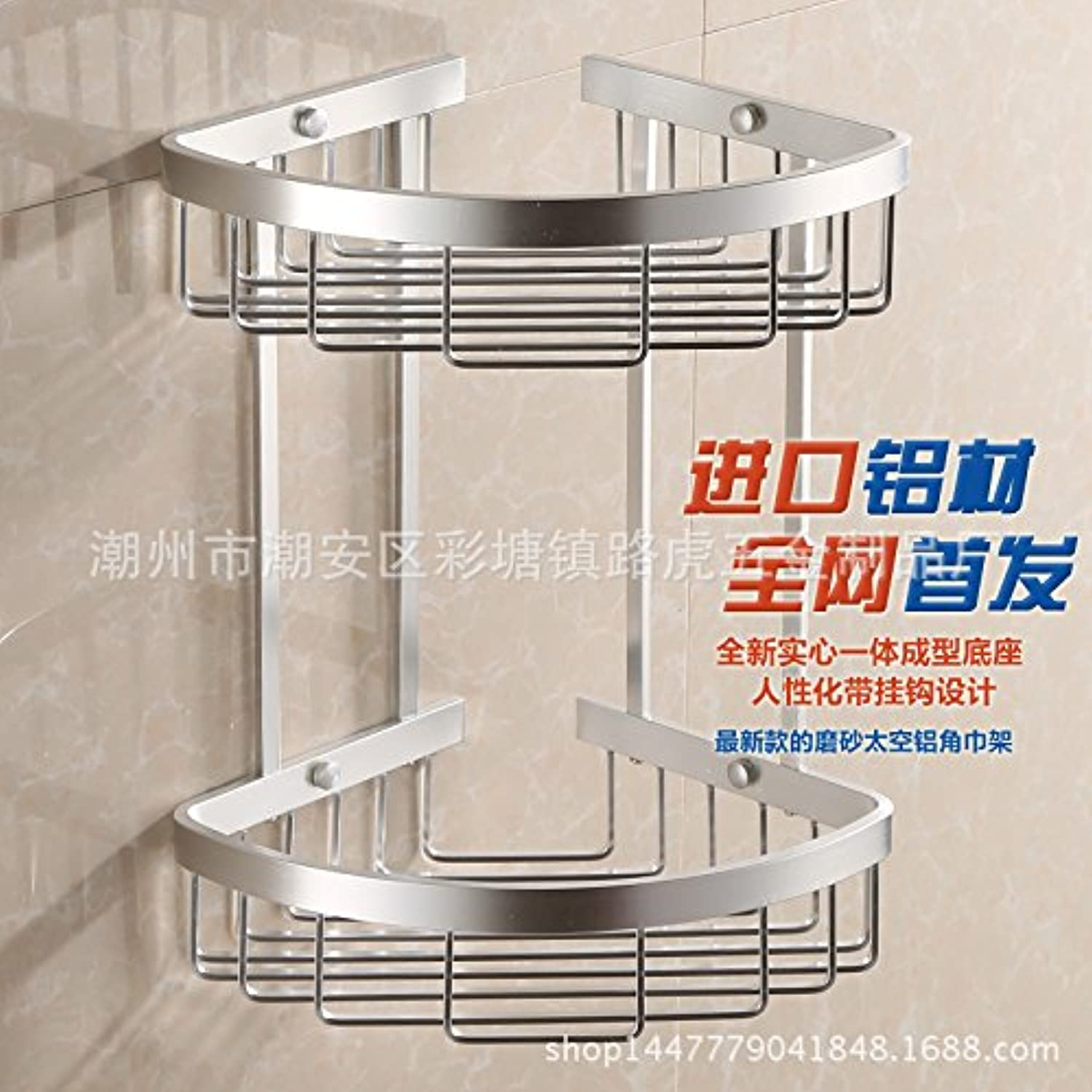 Adding thicker aluminum space corner rack rack storage rack tripod Double-layer