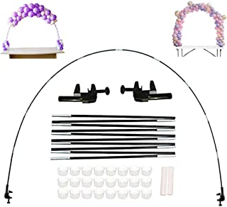 Pakoula Balloon Arch Kit Plastic Balloon Column Stands with Bases,Balloon Arch Stand Adjustable For Different Table Sizes ...