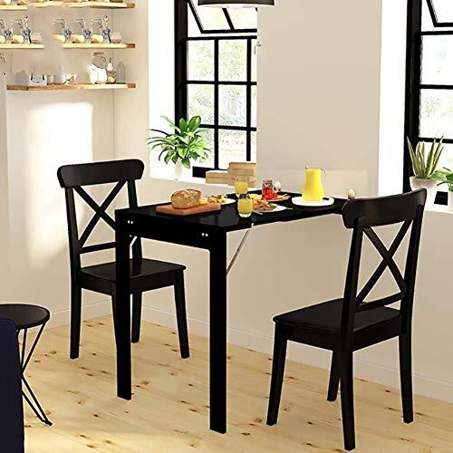 Living Equipment Mesas auxiliares Mesas plegables Mesa de comedor de cocina montada en la pared Escritorio para computadora portátil para la oficina en casa Ahorro de espacio Fácil instalación (Col