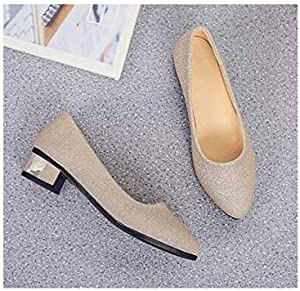 Spring Autumn Fashion Low to Help Women's Shoes Flat Low Heeled Pointed Shallow Mouth Shoes Women Size