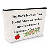 Special Education Teacher Gifts Makeup Bag Thank You Gift for Women Birthday Gift for Her Cosmetic Bag Teacher Appreciation Gift Retirement Gift Travel Cosmetic Pouch Christmas Gift