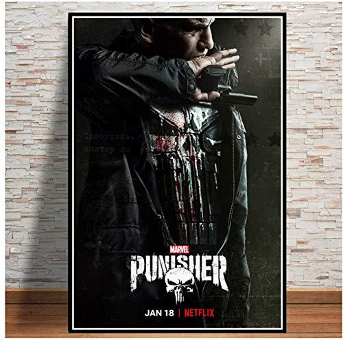 A&D The Punisher Season Series Leinwand Malerei Poster Und Drucke Wandbilder Für Wohnzimmer Dekoration Wohnkultur-50x70 cm Kein Rahmen