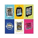 6 Stück 11 x 17 inspirierende Fitness-Poster für Zuhause,
