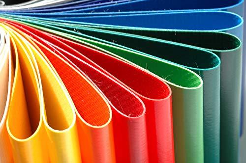 mächtig PVC-Plane Frachtplane für PVC-LKW-Taschen 500-950 g / m² Schmutz – verschiedene Farben (10 kg)